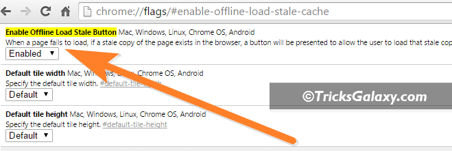 Enable Offline Browsing in Chrome