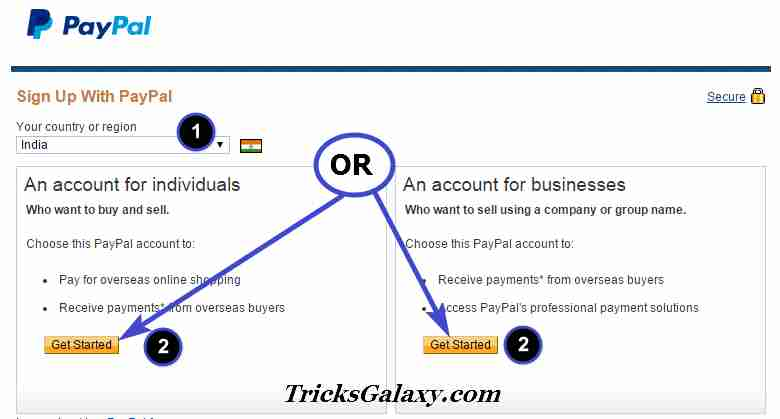 Create Verify PayPal - TricksGalaxy