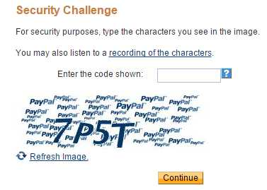 Enter Captcha to Create PayPal Account - TricksGalaxy