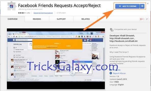 Accept or Reject all Facebook Friend Requests