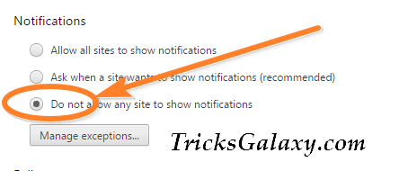 Turn OFF Chrome Desktop Notifications