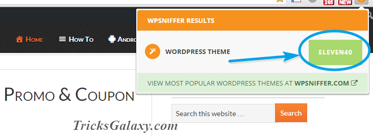 WP Theme Name by WPSNIFFER