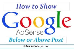 Google AdSense Below Post