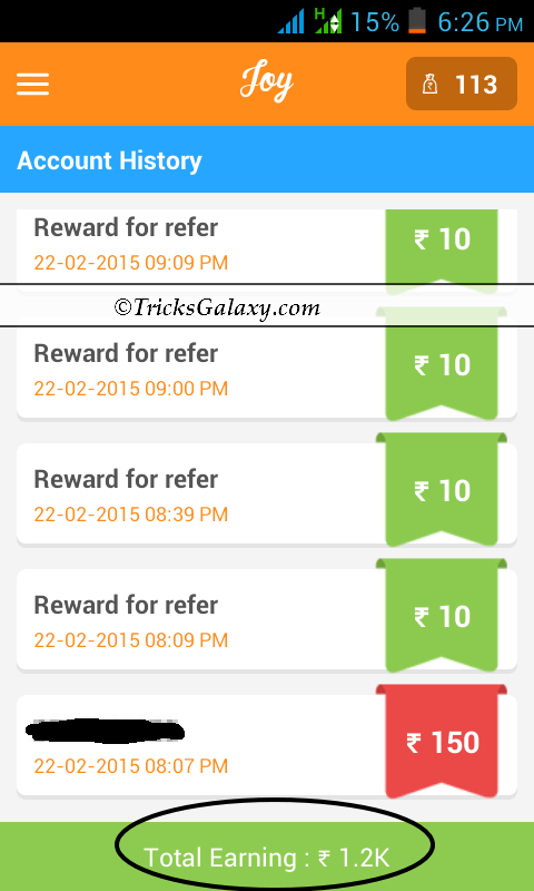 Joy App Unlimited earning