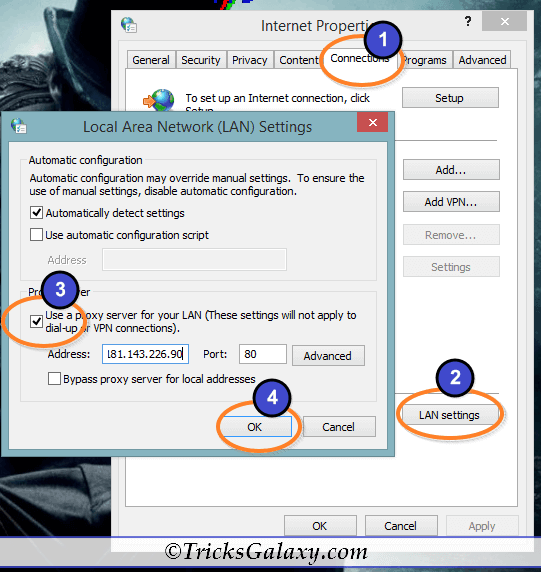 Proxy Setting in Windows PC