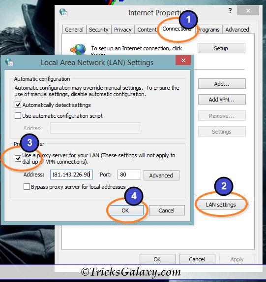 Proxy Setting in Windows PC