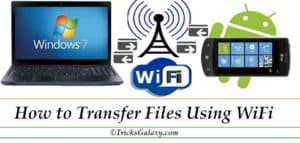 Transfer-Files-Using WiFI