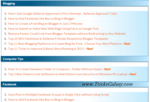 How to Create Attractive Sitemap in Blogger [Top 3 Responsive Sitemap Widgets]