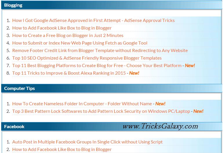 AllTechWay TricksGalaxy Attractive Sitemap