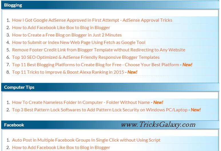 How to Create Attractive Sitemap in Blogger [Top 3 Responsive Sitemap Widgets]