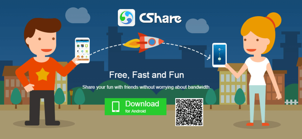 CShare Transfer Files Anywhere using WiFi