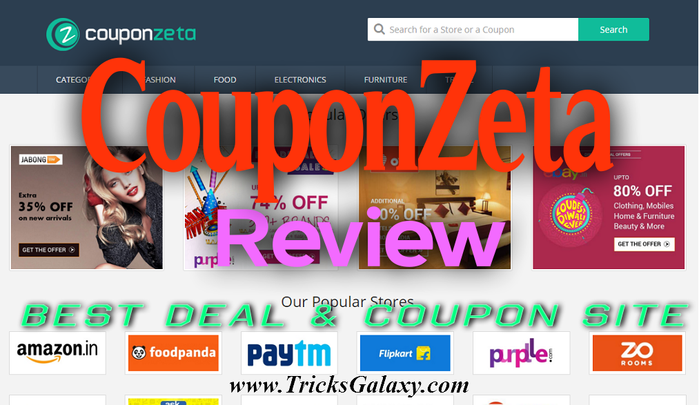 CouponZeta Review : Best Deals, Promo & Coupon Codes Website