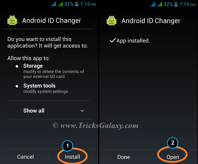 Install Android ID Changer to Change Android Device ID