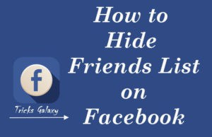 How to Hide Facebook Friends List from Other Friends