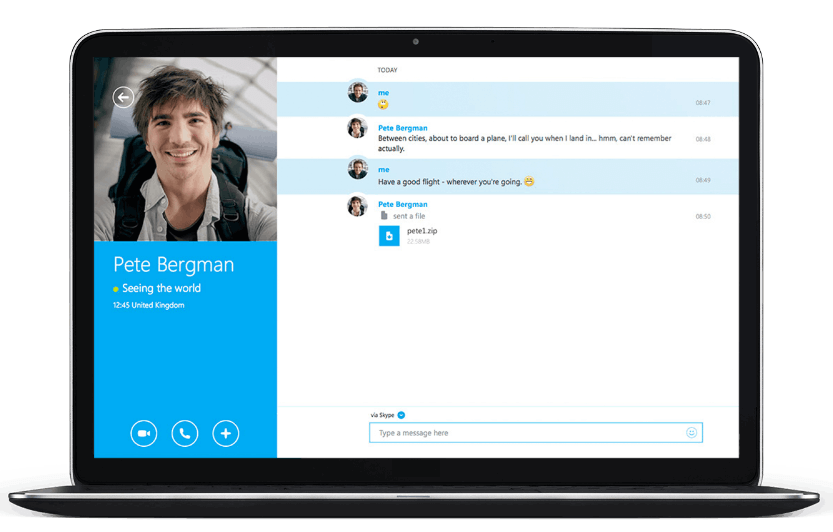 Skype for Android, Windows, iOS