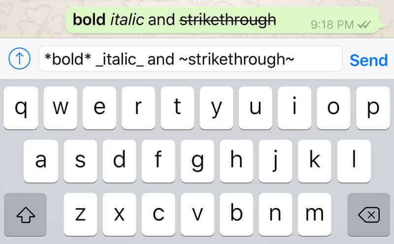 Bold Italic Strikethrough Your Text in WhatsApp Messages