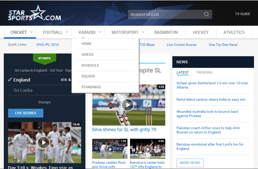 StarSports Best Streaming Site to Watch Sports Online