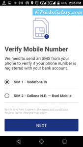 BHIM App Number Verification