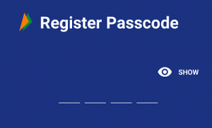 BHIM UPI Register Passcode