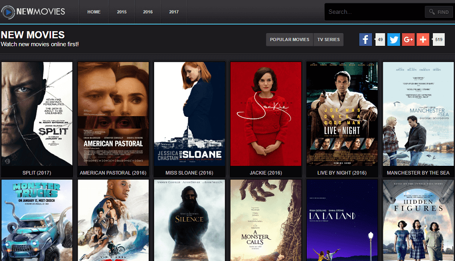 New Movie Streaming Sites