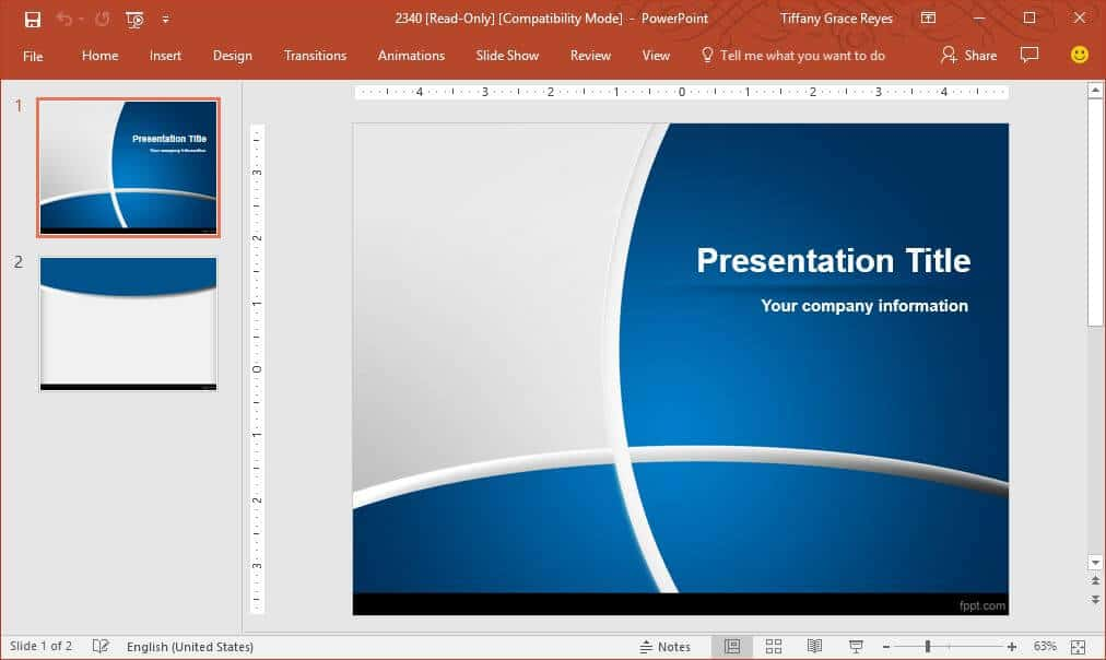 FPPT blue-curves-elegant-powerpoint-template