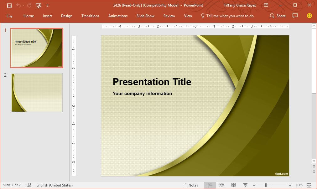 FPPT gold-curves-powerpoint-template