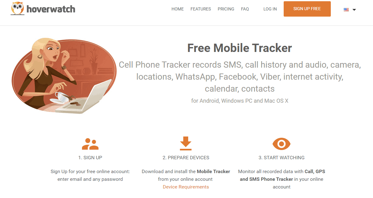 Hoverwatch Free Mobile Tracker