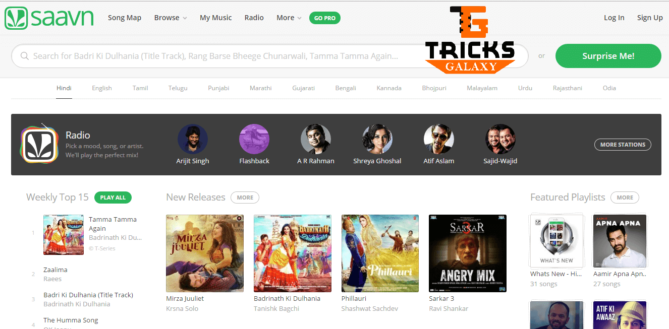 Saavn Mp3 Music Download Sites