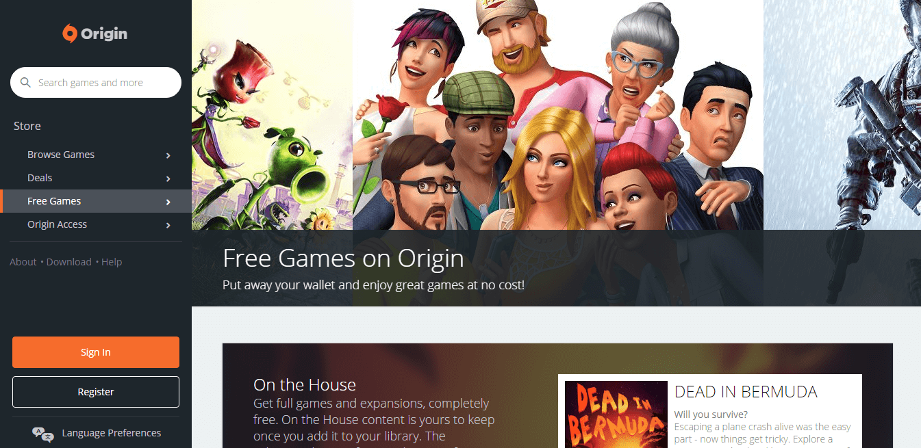 Origin - PC Game Downloads Website