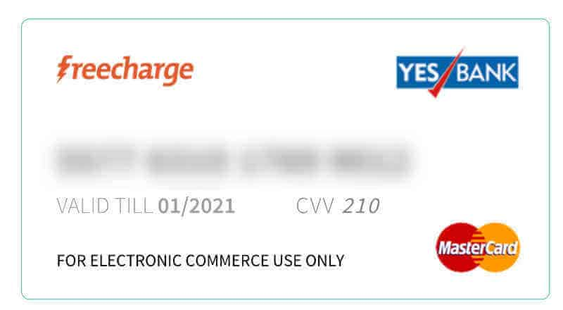 FreeCharge GO Virtual Master Card