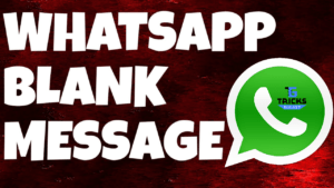 Send Blank Message on WhatsApp