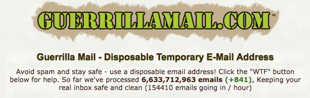 Guerrillamail temp mail