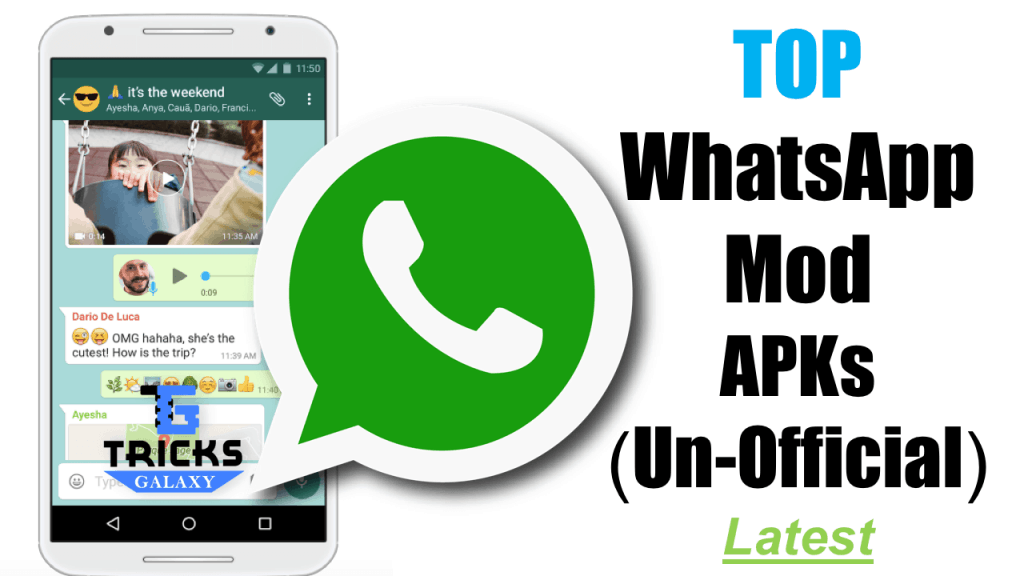 Top 10 UnOfficial WhatsApp Mod Apk Download for Android (2019)