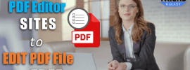 Best PDF Editor SITES to EDIT PDF File for FREE