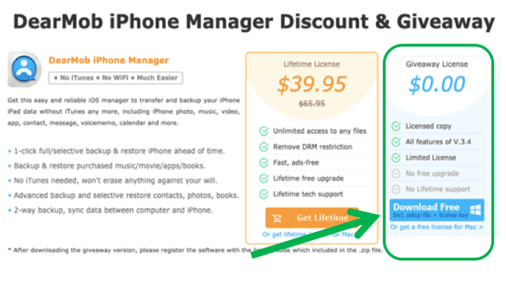 DearMob iPhone Manager Licensed Copy for Free